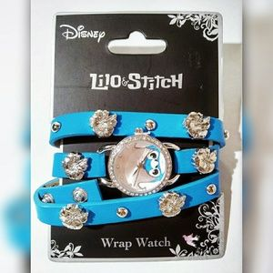 *Lilo & Stitch* Hibiscus Studded Disney Wrap Watch